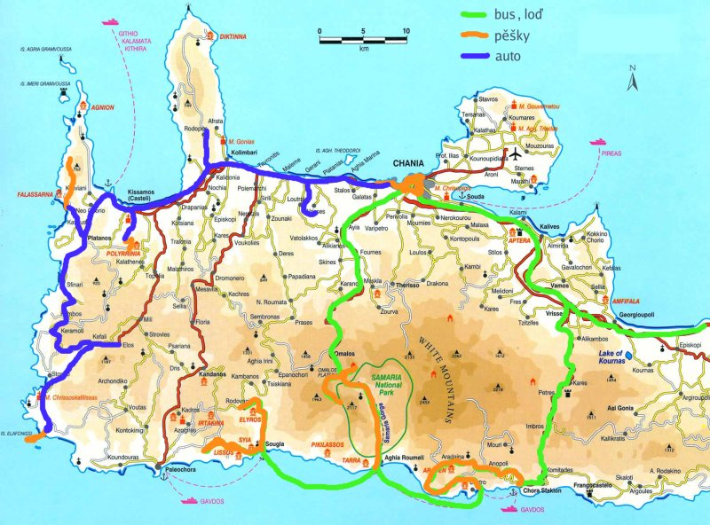 kreta mapa